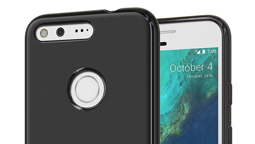 Black case for the Google Pixel phone